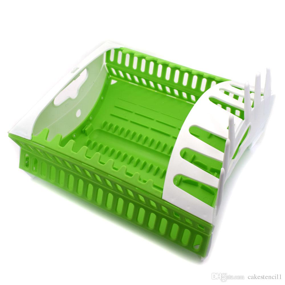 kitchen draining board retro table sets 2019 foldable drain bowl rack organizer dish drainer storage tableware with tray shelf from cakestencil1