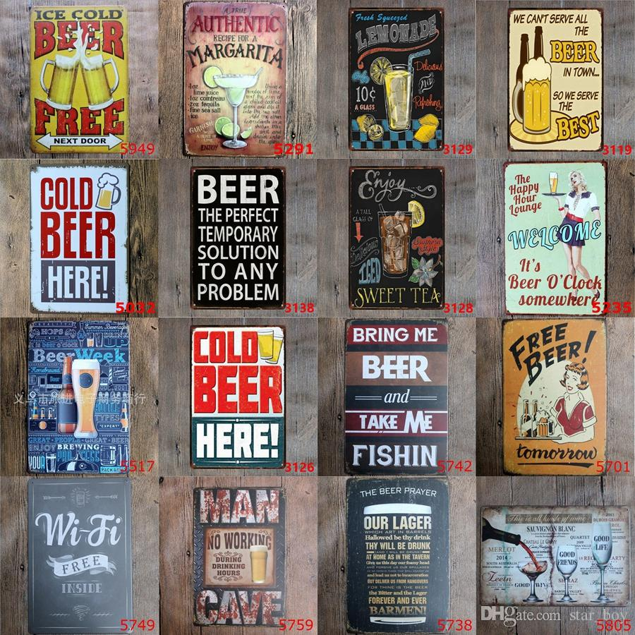 alcohol metal signs shots