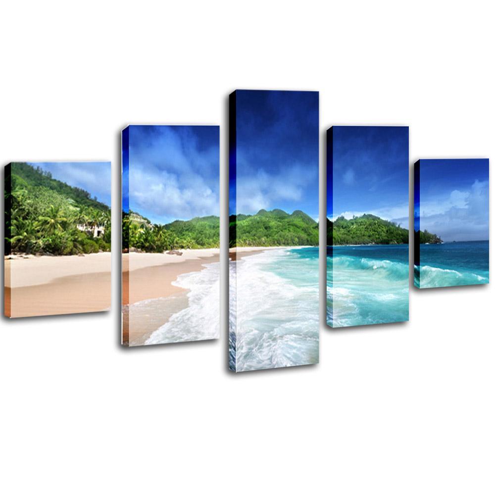 5 pieces framed landscape