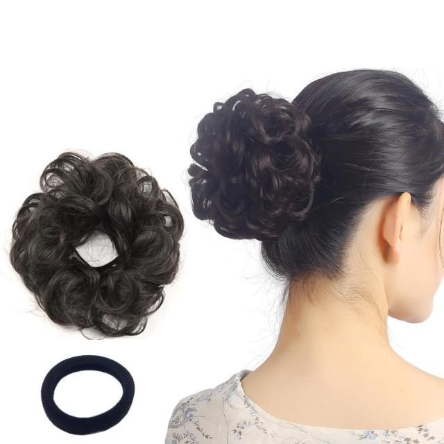 curly wavy updo hair bun extensions wavy donut updo scrunchy curly hairpieces natural hair for women kids donut updo ponytail hair chignons