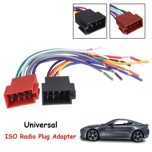 small resolution of 2019 universal car stereo female iso radio plug adapter wiring cable stereo harness from xiaopingguoma 7 04 dhgate com