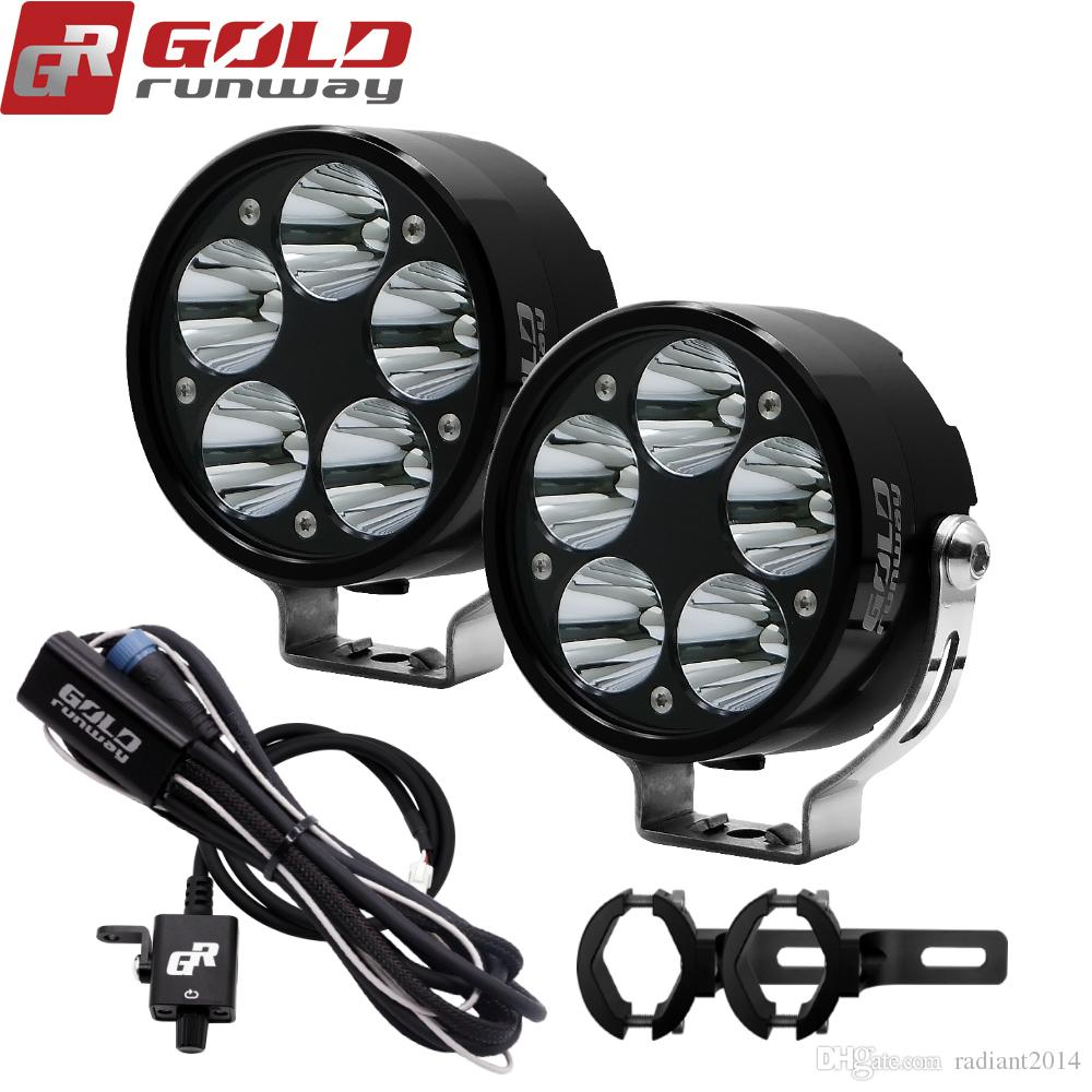 hight resolution of 2019 universal motorcycle fog light cree u3 led 3 modes auxiliary lamp 10 30v motorbike headlight truck spot light with mounting clamps from radiant2014