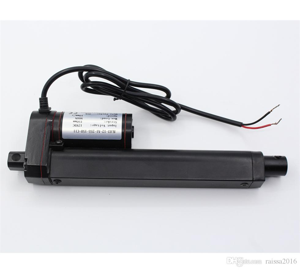 hight resolution of 14 inch 14 stroke 350mm stroke black color linear actuator 12 volt 12v 225 pounds lbs maximum lift for window opener