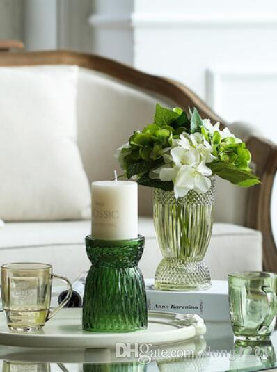 living room vase decoration throws 2019 modern minimalist glass decorative flower creative candlestick from dong1221 34 17 dhgate com