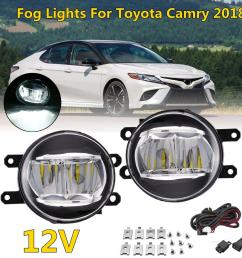 2019 halogen front bumper car fog light for toyota camry xse 2018 with switch cable lamp bulb clear lens bumper light from liuyangcar 50 67 dhgate com [ 1200 x 1200 Pixel ]