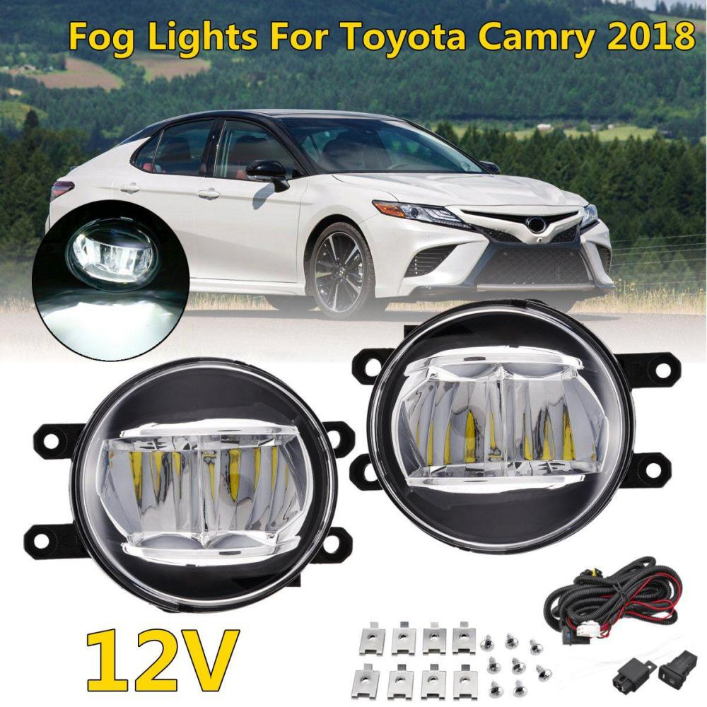 medium resolution of 2019 halogen front bumper car fog light for toyota camry xse 2018 with switch cable lamp bulb clear lens bumper light from liuyangcar 50 67 dhgate com