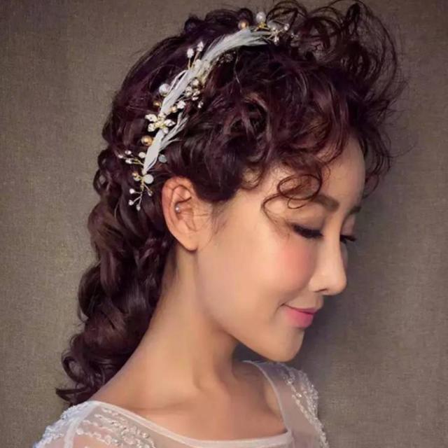 1pc flower feather headdress hair grips bridal wedding headpiece hair accessories fashion accessories hot pinza de pelo