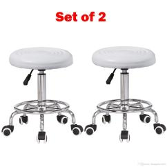 Rolling Stool Chair Covers 4 You Of 2 Hydraulic Adjustable Tattoo Massage Spa Salon Set