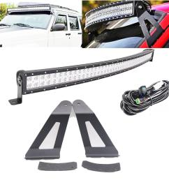 50inch 288w curved led light bar w dt connector wiring harness kit mounting brackets for 1984 2001 jeep xj cherokee led bulb design led bulb display from  [ 1000 x 1000 Pixel ]