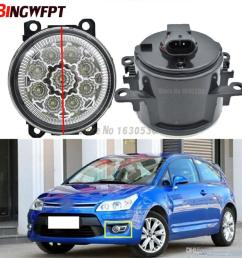 fog lamp assembly super bright fog light for citroen c3 c4 c5 c6 c crosser xsara picasso 1999 2015 led fog lights uk 2019 from carfansauto  [ 1000 x 1000 Pixel ]