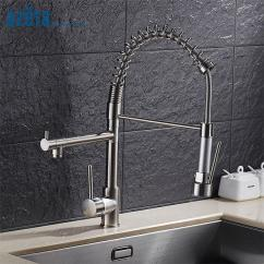 Brushed Nickel Kitchen Faucet With Sprayer Wall Hangings 2019 Azeta Dual Spray Spout Mixer Tap Deck Mounted Pull Down Sinks Mk9844bn From Donaold 247 92 Dhgate