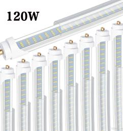 8 t8 t12 led tube light 120w 6000k clear cover 96 3 row led [ 1500 x 1500 Pixel ]