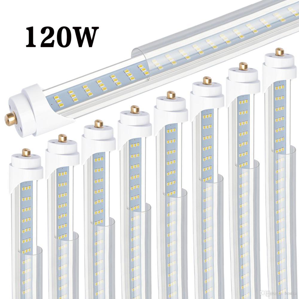 medium resolution of 8 t8 t12 led tube light 120w 6000k clear cover 96 3 row led