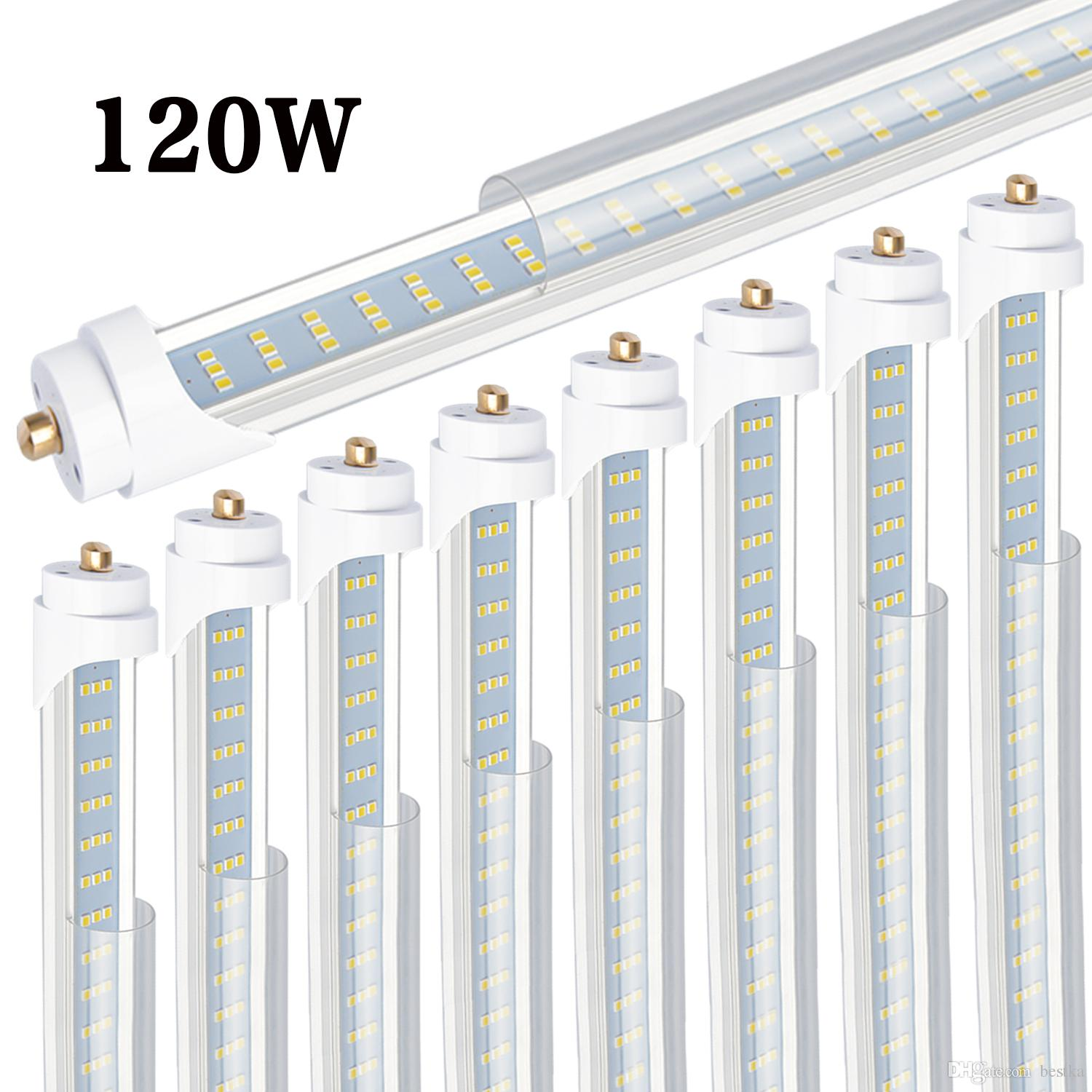 hight resolution of 8 t8 t12 led tube light 120w 6000k clear cover 96 3 row led