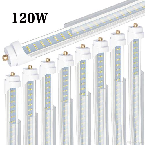 small resolution of 8 t8 t12 led tube light 120w 6000k clear cover 96 3 row led
