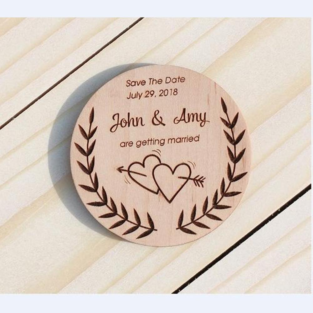 custom wooden magnet personalized
