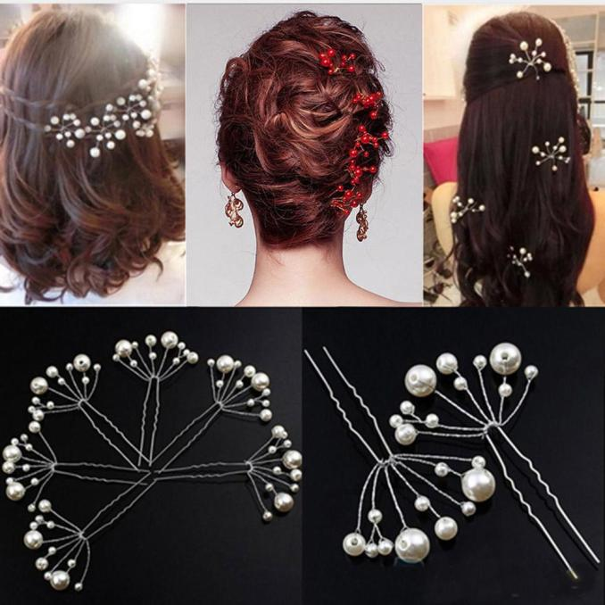 5pc simulate pearl hairpins hairstyles wedding bridal hair clip girls hair clips for women jewelry accessories