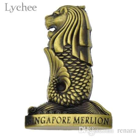 lychee vintage singapore merlion
