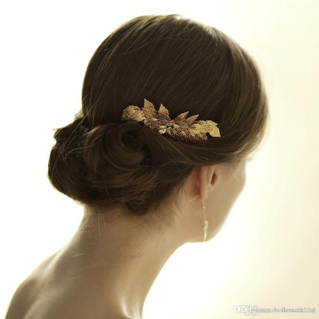 vintage wedding headpieces hair accessories golden leaf bridal hair comb women hair jewelry bridal jewelry bw-hp831
