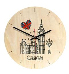 wall clock retro european style creative simple decorative wall clock wooden for office living room kitchen bedroom decorative outdoor clocks decorative  [ 1002 x 1002 Pixel ]
