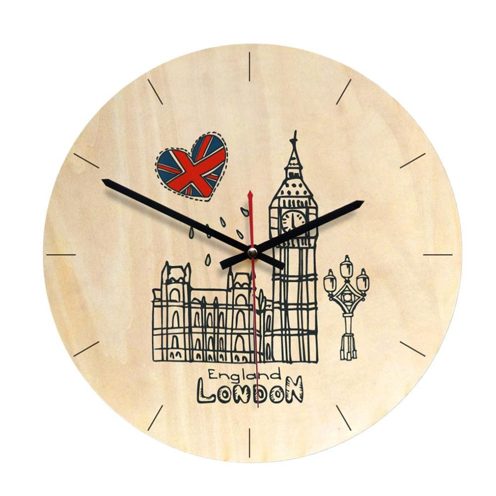 medium resolution of wall clock retro european style creative simple decorative wall clock wooden for office living room kitchen bedroom decorative outdoor clocks decorative