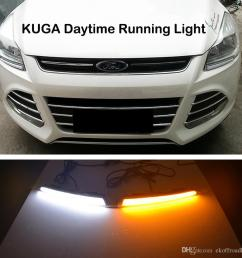 ecahayaku for ford kuga escape 2013 2014 2015 2016 drl driving daytime running light drl car styling fog lamps relay daylight led lights for running at  [ 1000 x 957 Pixel ]