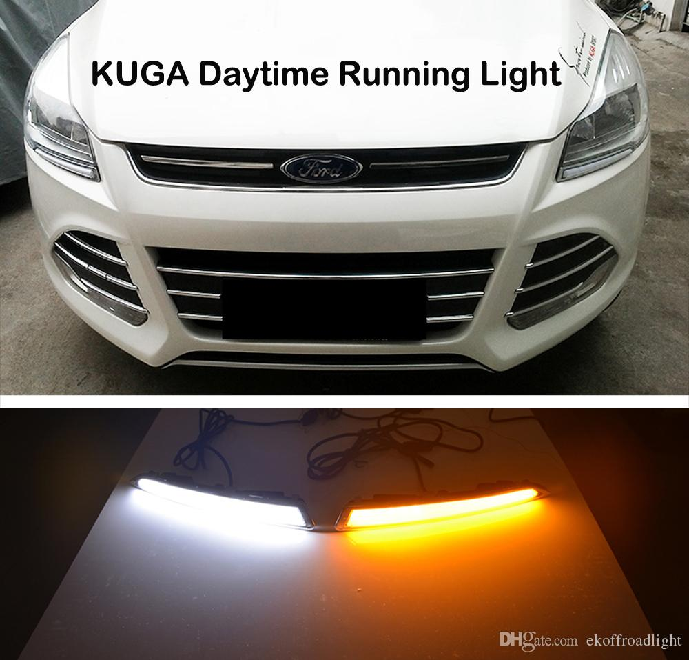 medium resolution of ecahayaku for ford kuga escape 2013 2014 2015 2016 drl driving daytime running light drl car styling fog lamps relay daylight led lights for running at