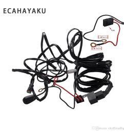 ecahayaku 2x 3 meter led lichtleiste draht kabelbaum relay loom kabel kit sicherung f r auto driving offroad arbeitslampe 12 v 24 v [ 1000 x 1000 Pixel ]