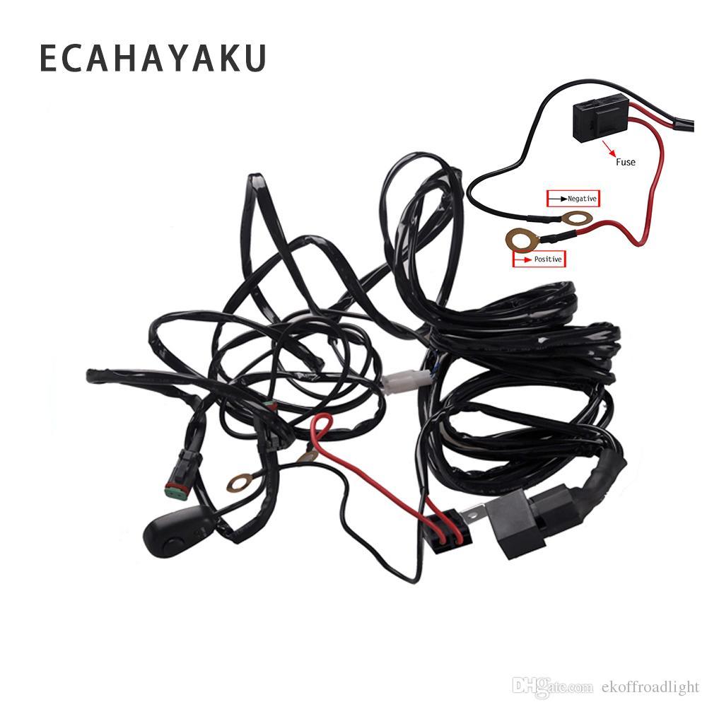 medium resolution of ecahayaku 2x 3 meter led lichtleiste draht kabelbaum relay loom kabel kit sicherung f r auto driving offroad arbeitslampe 12 v 24 v