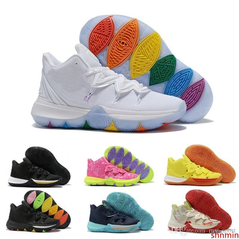 2020 Cheap Sale Mens Kyrie 5 V Patricks Stars Basketball Shoes Nickelodeon 20th Sponge Irving Outdoor Luxury Sneakers CJ61 700 600 From Shnmin ...