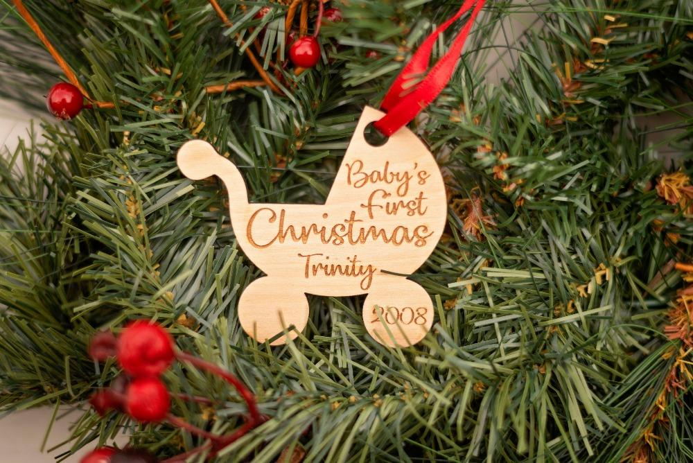 personalized stroller ornament baby