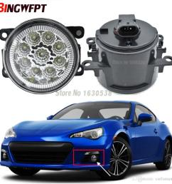 pair fog lamp assembly super bright led fog light chips white yellow for subaru brz 2013 2017 hid lights for cars price hid lights for sale from  [ 1000 x 1000 Pixel ]