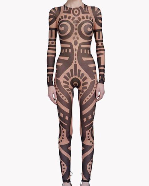 Compre Mujeres Del Verano Vintage Tribal Tatuaje Impresión De Malla