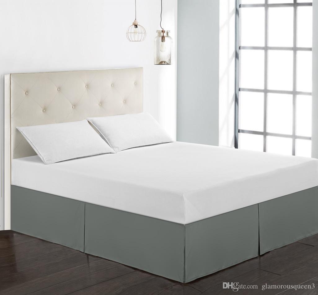 Luxury Plain Dyed Poly Polyester Platform Base Valance