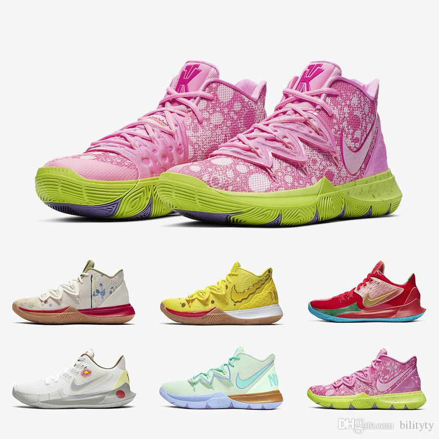 2019 Fashion Sponge Bob X Kyrie Irving 5 Mens Basketball Shoes 5s Athletic Mr. Krabs Patrick Squidward Sandy Cheeks Star Men Sports Sneakers From ...