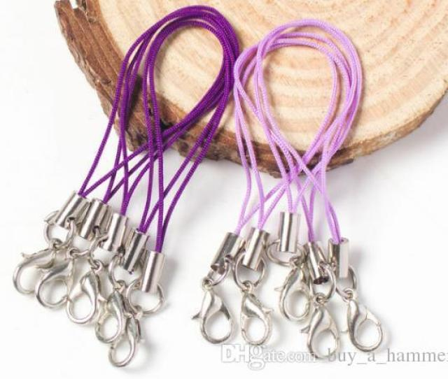 2019 Diy Handmade Accessories Material Lobster Buckle Mobile Phone Rope Jewelry Hanging Rope Loop With Metal Buckle Suspension Rope From Buy_a_hammer