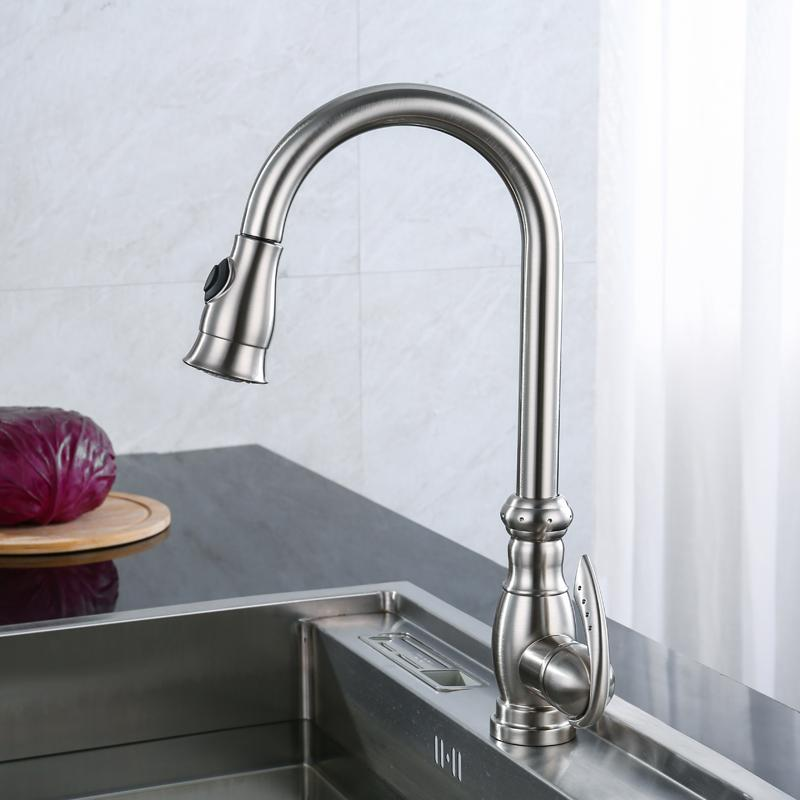 professional kitchen faucet organic towels 2019 olmey 2 functions commercial with pull down sprayer single lever hole sink taps mixer 11011 c16 from donaold