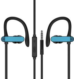 gotacc pro 3 5 mm aux jack wired earphone stereo music earphone with mic for iphone for audio devices sport headset over ear headphones running headphones  [ 1000 x 1000 Pixel ]
