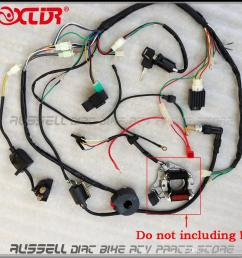 full electrics wiring harness cdi ignition coil rectifier switch 110cc 125cc atv quad bike buggy gokart motorcycle parts shop motorcycle parts store from  [ 1000 x 1000 Pixel ]