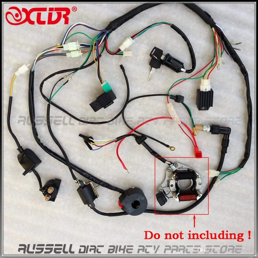 medium resolution of full electrics wiring harness cdi ignition coil rectifier switch 110cc 125cc atv quad bike buggy gokart motorcycle parts shop motorcycle parts store from