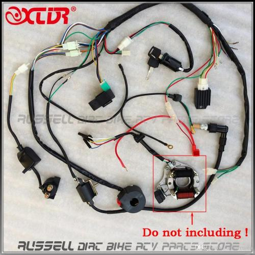 small resolution of full electrics wiring harness cdi ignition coil rectifier switch 110cc 125cc atv quad bike buggy gokart motorcycle parts shop motorcycle parts store from