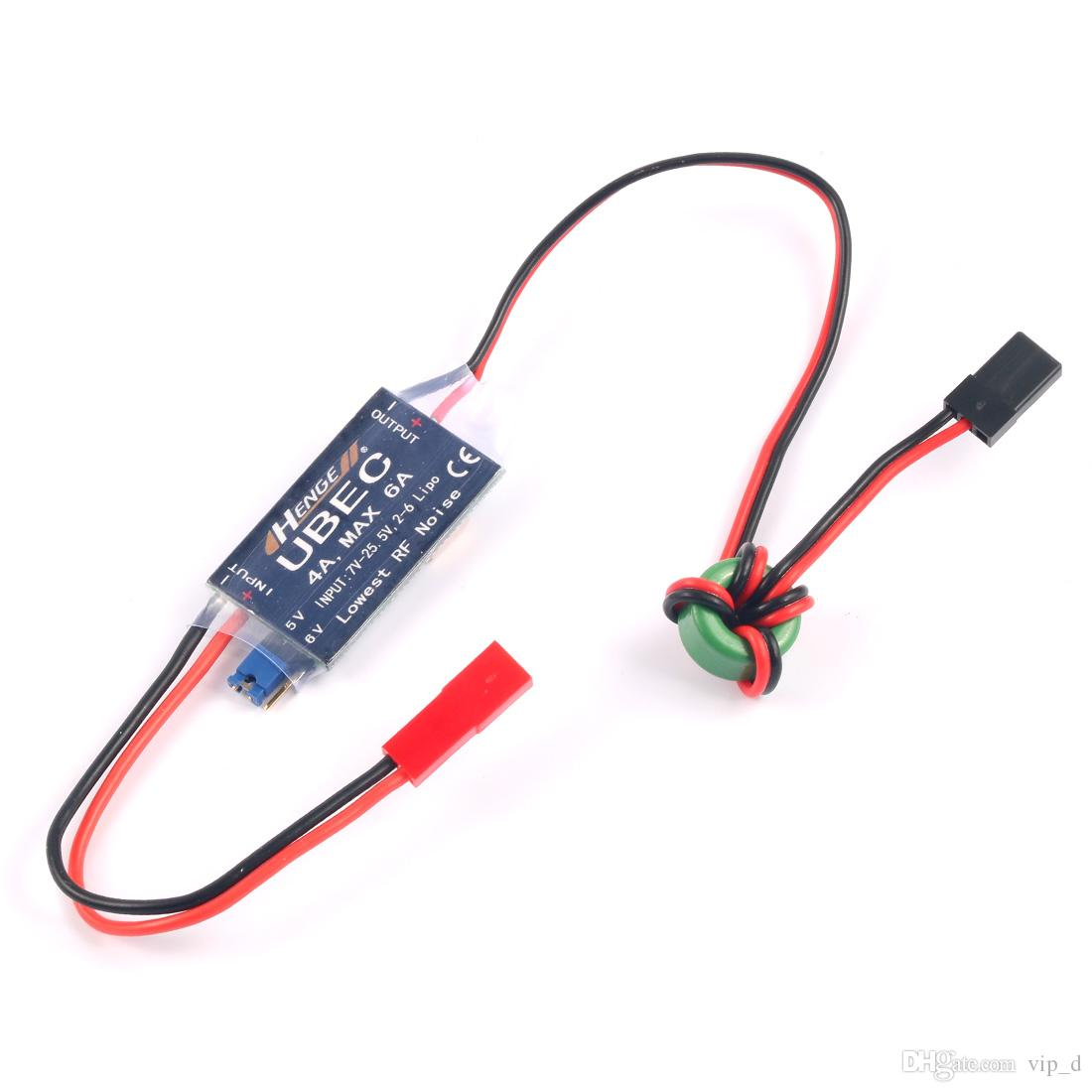 hight resolution of 2019 henge 4a ubec input 7v 25 5v 2 6s lipo output 5v 6v 4a continuous max 6a switch mode bec for rc helicopters airplane car parts from vip d