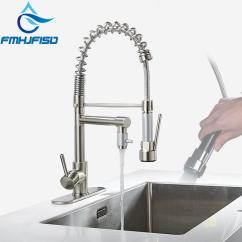 Kitchen Faucets Cheap Best Material For Sink 2019 Brushed Nickel Chrome Faucet Double Sprayer Vessel Mixer Tap Deck Mounted Single Hole From Flaminglily 70 22 Dhgate Com