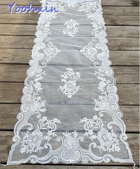 modern lace white embroidery