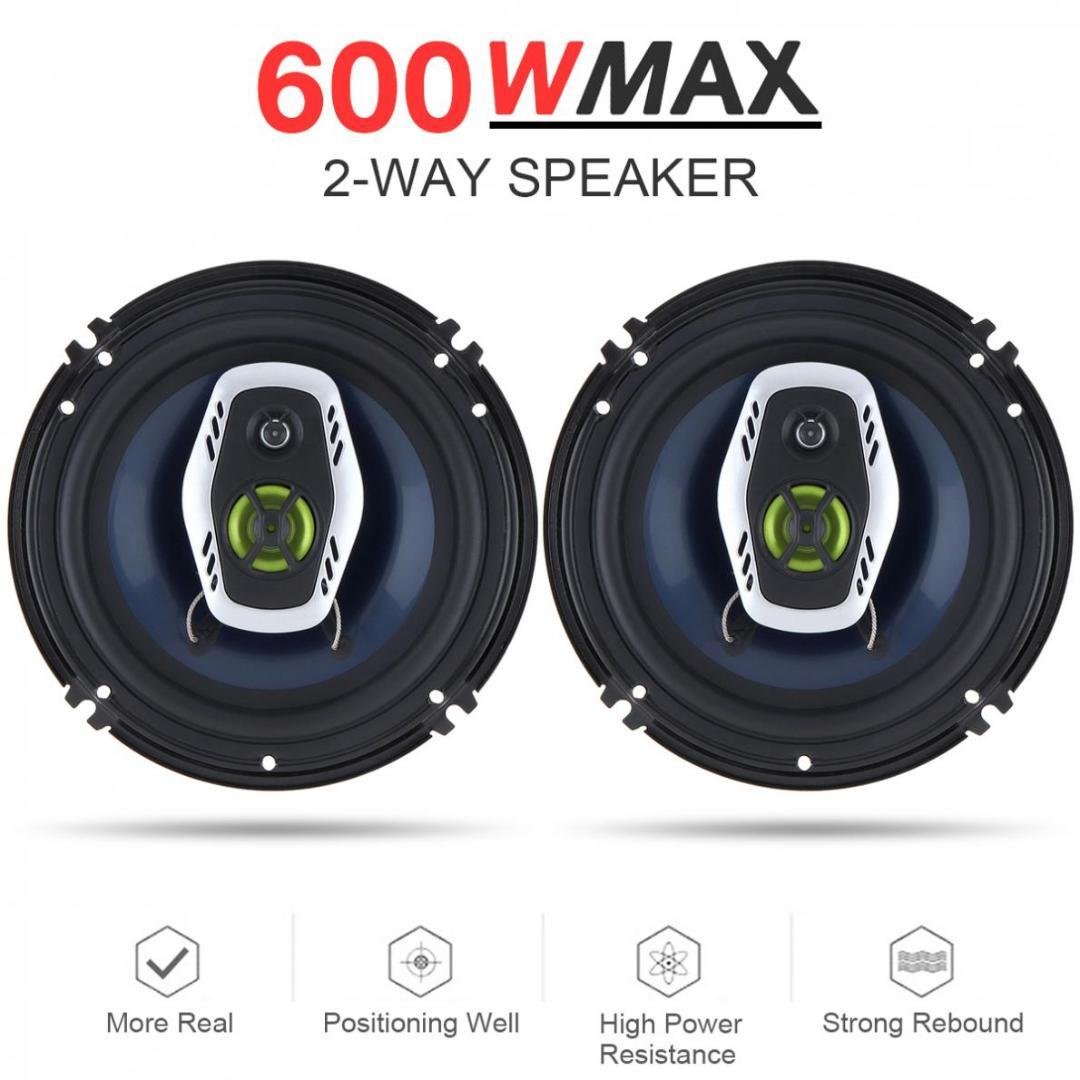 hight resolution of 6 5 inch 16cm 600w 2 way universal car coaxial hifi speakers auto audio music stereo speaker non destructive installation discount car stereo systems
