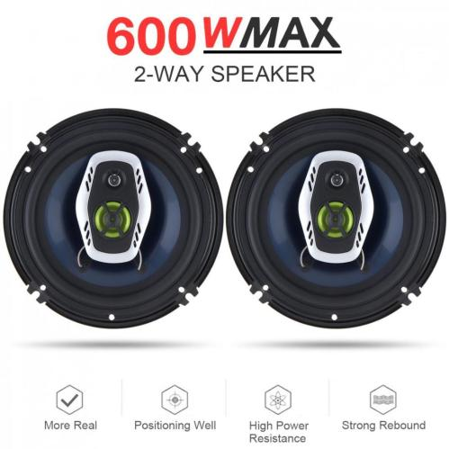 small resolution of 6 5 inch 16cm 600w 2 way universal car coaxial hifi speakers auto audio music stereo speaker non destructive installation discount car stereo systems