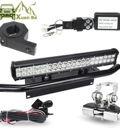 led light bar offroad tube hood roof license installation bracket remote control wire harness 12v 24w work lights led light work light led light working  [ 1000 x 1000 Pixel ]