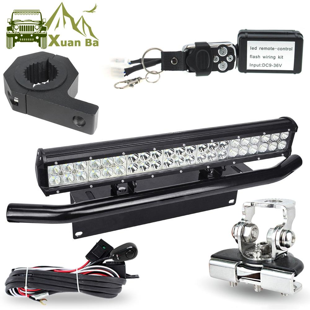 hight resolution of led light bar offroad tube hood roof license installation bracket remote control wire harness 12v 24w work lights led light work light led light working