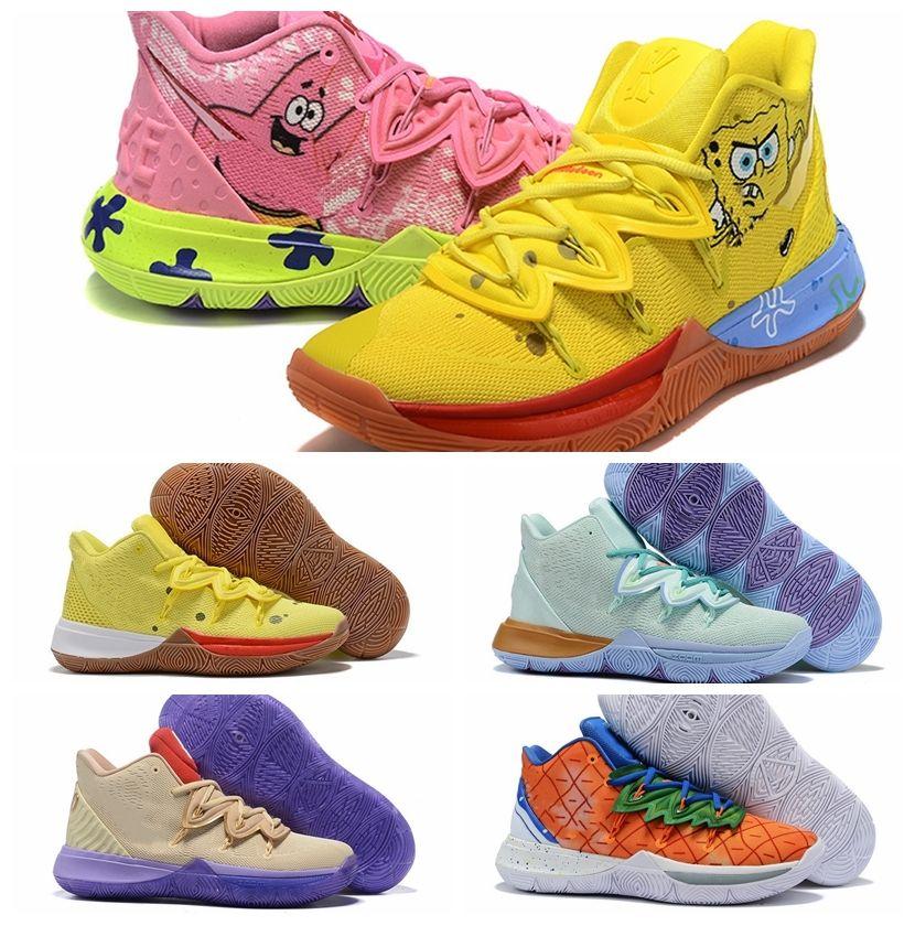 2020 Sponge X Kyrie 5 Pineapple Home Basketball Shoes Mens Irving 5s Graffiti Keep Sue Cool Patrick Calamardo Star Sneakers Basketball Shoe Men ...
