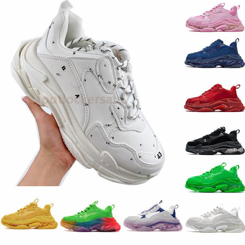 2021 Luxe Triple S Casual Shoes Fashion Paris Tripler ...